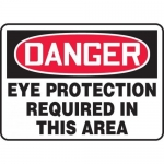 """Accuform MPPE010VS, Vinyl Sign """"Eye Protection Required in This Area"""""""