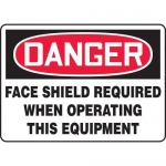 """Accuform MPPE017VP, Sign """"Face Shield Required When Operating This…"""""""