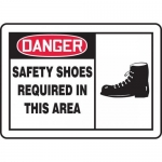 "Accuform MPPE019VA, Aluminum Sign ""Safety Shoes Required in This Area"""