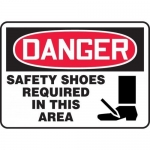 "Accuform MPPE028XL, OSHA Sign ""Safety Shoes Required in This Area"""