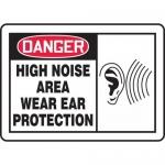 "Accuform MPPE033XP, OSHA Sign ""High Noise Area – Wear Ear Protection"""
