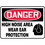 """Accuform MPPE038XP, Sign """"High Noise Area – Wear Ear Protection"""""""