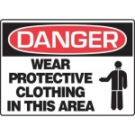 """Accuform MPPE054XL, Sign """"Wear Protective Clothing in This Area"""""""