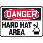 "Accuform MPPE061XT, Dura-Plastic OSHA Sign ""Danger Hard Hat Area"""