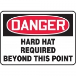 """Accuform MPPE065XT, Sign """"Hard Hat Required Beyond This Point"""""""