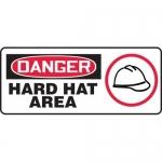 "Accuform MPPE067XF, Dura-Fiberglass Sign ""Danger Hard Hat Area"""