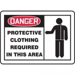 """Accuform MPPE071XL, Sign """"Protective Clothing Required in This Area"""""""