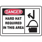 """Accuform MPPE074XT, Dura-Plastic Sign """"Hard Hat Required in This Area"""""""