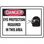 """Accuform MPPE075XL, OSHA Sign """"Eye Protection Required in This Area"""""""