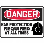 """Accuform MPPE106XP, Sign """"Ear Protection Required at All Times"""""""