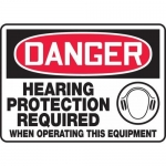 """Accuform MPPE107VS, Sign """"Hearing Protection Required When …"""""""