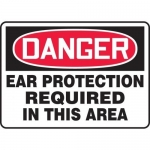 """Accuform MPPE108VP, Sign """"Ear Protection Required in This Area"""""""