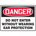 """Accuform MPPE111XP, Sign """"Do Not Enter Without Wearing Ear Protection"""""""