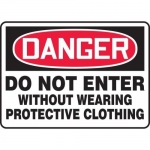 """Accuform MPPE115VP, Sign """"Do Not Enter Without Wearing Protective…"""""""