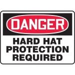 """Accuform MPPE117XT, Dura-Plastic Sign """"Hard Hat Protection Required"""""""