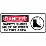 "Accuform MPPE119VP, Sign ""Safety Shoes Must Be Worn in This Area"""