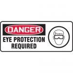 """Accuform MPPE123XT, Dura-Plastic Sign """"Danger Eye Protection Required"""""""