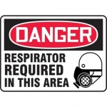 """Accuform MPPE126VS, Vinyl Sign """"Respirator Required in This Area"""""""