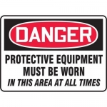 """Accuform MPPE127XL, Sign """"Protective Equipment Must Be Worn…"""""""