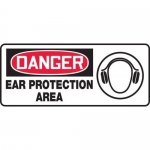 "Accuform MPPE129VP, Plastic Sign ""Danger Ear Protection Area"""