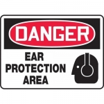 """Accuform MPPE130XP, Accu-Shield Sign """"Danger Ear Protection Area"""""""