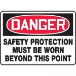 """Accuform MPPE134XT, Sign """"Safety Protection Must Be Worn Beyond …"""""""