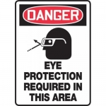 """Accuform MPPE138VP, Sign """"Eye Protection Required in This Area"""""""