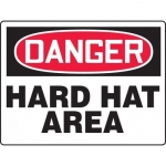 """Accuform MPPE152XT, BIGSigns Dura-Plastic Sign """"Hard Hat Area"""""""
