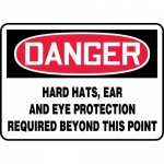 """Accuform MPPE153XT, Sign """"Hard Hats, Ear and Eye Protection …"""""""