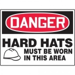 """Accuform MPPE154XT, BIGSigns Sign """"Hard Hats Must Be Worn in …"""""""