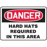 "Accuform MPPE156XL, OSHA Sign ""Hard Hats Required in This Area"""