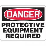 """Accuform MPPE158XL, BIGSigns Sign """"Protective Equipment Required"""""""