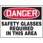 """Accuform MPPE160XT, BIGSigns Sign """"Safety Glasses Required in …"""""""