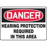 """Accuform MPPE220XL, Sign """"Hearing Protection Required in This Area"""""""