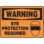 """Accuform MPPE301VS, Vinyl Sign """"Warning Eye Protection Required"""""""