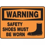 """Accuform MPPE304XF, Sign """"Warning Safety Shoes Must Be Worn"""""""