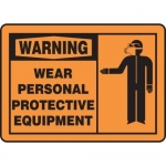 """Accuform MPPE309XL, Sign """"Warning Wear Personal Protective Equipment"""""""
