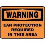 "Accuform MPPE312VA, OSHA Sign ""Ear Protection Required in This Area"""