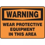 """Accuform MPPE313XL, Sign """"Wear Protective Equipment in This Area"""""""
