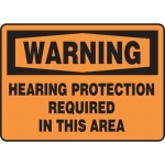 "Accuform MPPE316XF, Sign ""Hearing Protection is Required in This Area"""