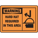 """Accuform MPPE324XT, Sign """"Warning Hard Hat Required in This Area"""""""