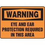 """Accuform MPPE332VA, OSHA Sign """"Eye and Ear Protection Required…"""""""