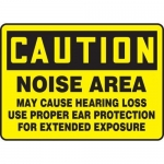 """Accuform MPPE401VP, Sign """"Caution Noise Area May Cause Hearing Loss"""""""