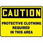 """Accuform MPPE405XT, OSHA Sign """"Protective Clothing Required in …"""""""