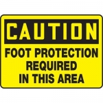"""Accuform MPPE408XF, Sign """"Foot Protection Required in This Area"""