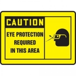 """Accuform MPPE413VP, Sign """"Eye Protection Required in This Area"""""""