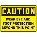 """Accuform MPPE419XL, Sign """"Wear Eye and Foot Protection Beyond…"""""""