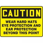 """Accuform MPPE422XT, Sign """"Wear Hard Hats Eye Protection and…"""""""