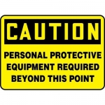 "Accuform MPPE429VS, Sign ""Personal Protective Equipment Required…"""