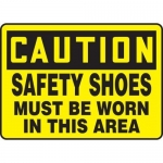 "Accuform MPPE433VA, Sign ""Safety Shoes Must Be Worn in This Area"""